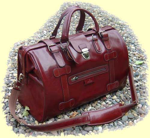 Leather Gladstone Holdall