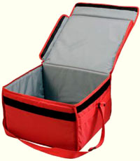 These Have A Hinged Velcro Closing Lid And Shoulder Carrying Strap They Are Suitable For Delivering Food In Rigid Trays Or Bo Pizzas Take Aways Etc