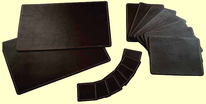 Exceptionnel LEATHER TABLE MATS AND COASTERS